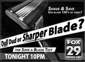 Sharper Blade Newsprint Ad by PatrickJoseph