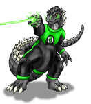 B-Day-Green Lantern Godzilla by Scatha-the-Worm