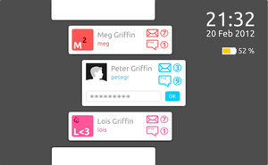 Touchpad user log in (mock up) by karagorge