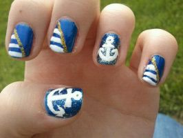Nautical Nail Art by TheNailFile