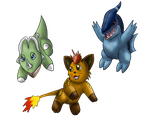 Fakemon Starters by Icedragon300