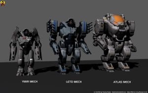 Mass Effect Heavy Mechs by Euderion