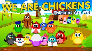 We Are Chickens (2015) Top Hit Song for Kids by djnick2k