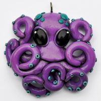 Octopus Necklace purple by beatblack