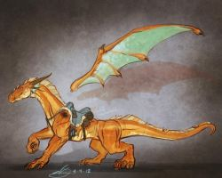 Copper Dragon Mount by natebaertsch