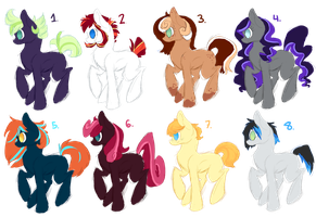 Pony Point Adoptables by DaPuddingz