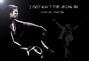 MJ I Just Cant Stop Loving You by krkdesigns