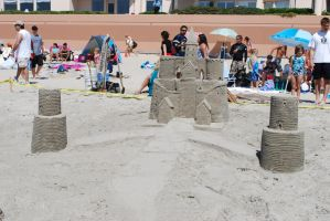 Sandcastle stock 4 by chamberstock