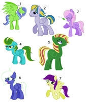 Pegasi Adoptables ALL TAKEN by Rain-Approves