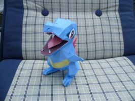 totodile is relexing by epikachu