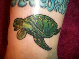 Sea Trutle Tattoo by mcnasty6971