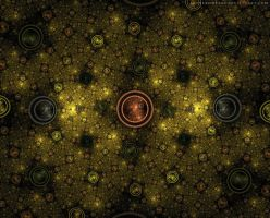 Yellow Fractal Wallpaper by LadyFromEast