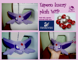 Espeon Luxury Plush WIP by WolfPink