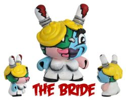 Dunny Monster : Hand Painted The Bride by zombiemonkie