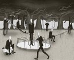 Slender men at play by MonocleBunny
