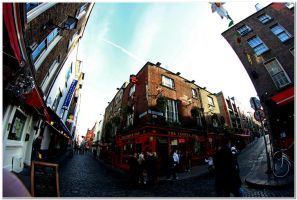 Temple Bar - Fisheye by LuckyLisp
