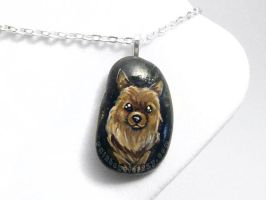 Pomeranian Pendant Necklace by sobeyondthis