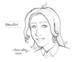 NewGirl by silentsketcher