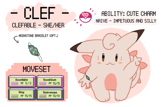 Clef (Pokesona) reference by cIefabIes