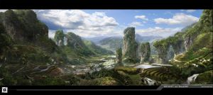 Rice Valley by frenic