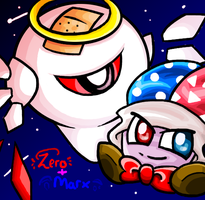 A Jester and the Lord of All Darkness by kirbykawaii2105