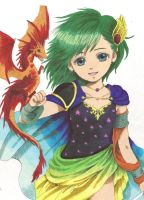 Rydia:Little Summoner by ClaireRoses