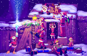 KH - Destiny Island Christmas by rasenth