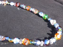 Multi-Colored Crystal Beaded Necklace by CelticStrm