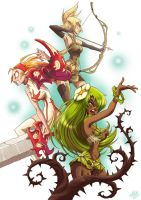 The Wakfu warriors by JackPot-84