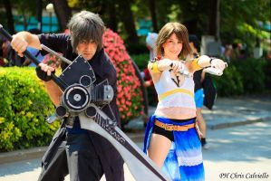 Yuna and Noctis by AerithStrife90