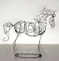 Wire Horse Figure by Ramala