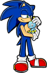 Sonic with chao by Artistonfire