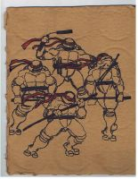 Ninja Turtles Cardboard by PANYHK