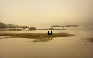 Low tide by Linlith