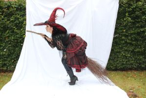 Stock - Witch flying on  a broom.... Halloween 6 by S-T-A-R-gazer