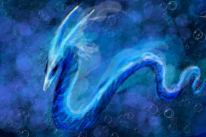 Aquatic Space Serpent by Diamondfeathers