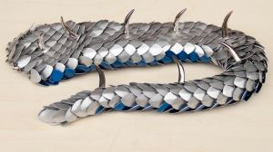 Frosty Dragon Tail with Spikes by DracoLoricatus