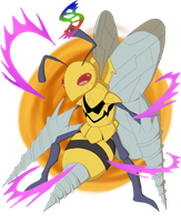 Fan Made Megas: Beedrill by Hichico