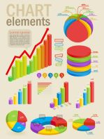 Infographics and chart design elements vector set by FreeIconsdownload