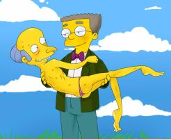 Smithers/Mr. Burns by volkradugi