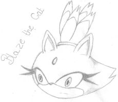 Head sketch 002: Blaze the Cat by Astral-Blaze