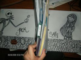 jack and sally binder drawing by jackfreak1994