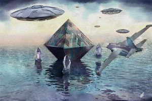 The Crystals and Pyramid - Bermuda Triangle by Arsiderium