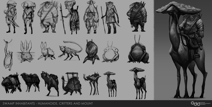 Swamp Inhabitants Concepts by SilentIvo