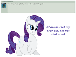 Ask Rarity question #11 by RarityVore