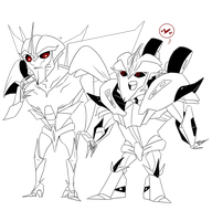 .:Starscream and Knockout - Chibis:. by JACKSPICERCHASE