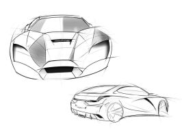 car sketches by mikednhm