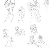 Phantom of the Opera sketches by scaragh
