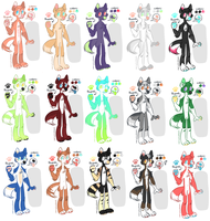 Anthro Dog adopts!  (OPEN!) by Lodidah