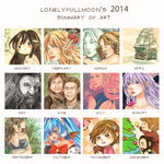2014 Summary Of Art by LonelyFullMoon